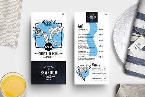 DL Seafood Menu Template