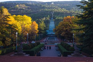 Autumnal park in Tbilisi