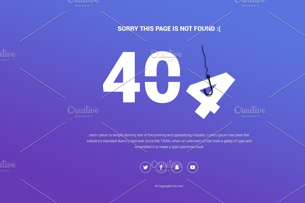 404 Responsive Page