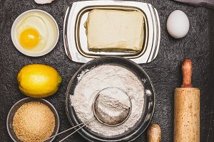 Bake ingredients and tools