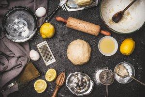 Lemon Cookie or cake dough