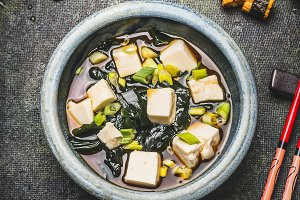 Bowl of Japanese miso soup