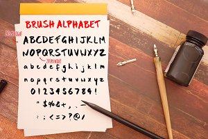Bold Brush Photoshop Alphabet Set