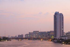 Bangkok city evening