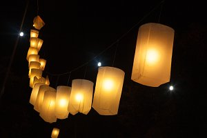 Lanterns to tie lined