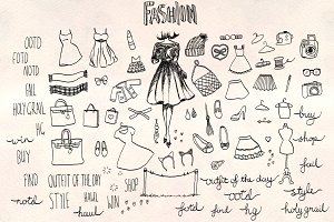 Fashion Vector Sketches Bundle