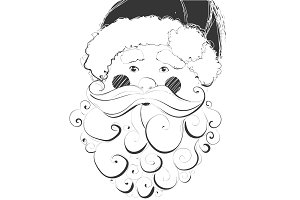 Vector hand drawn Santa Claus illustration