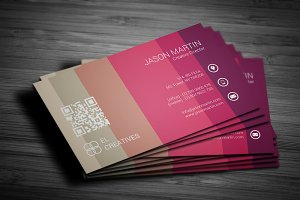 Colorful Unique Business Card