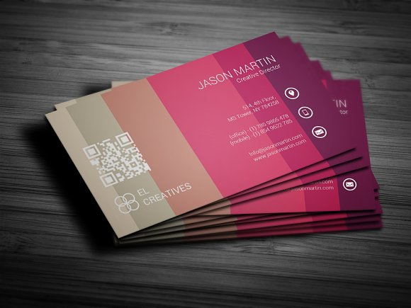Colorful Unique Business Card Business Card Templates Creative