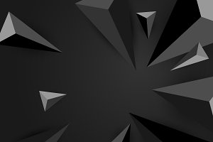 Vector of black triangles background