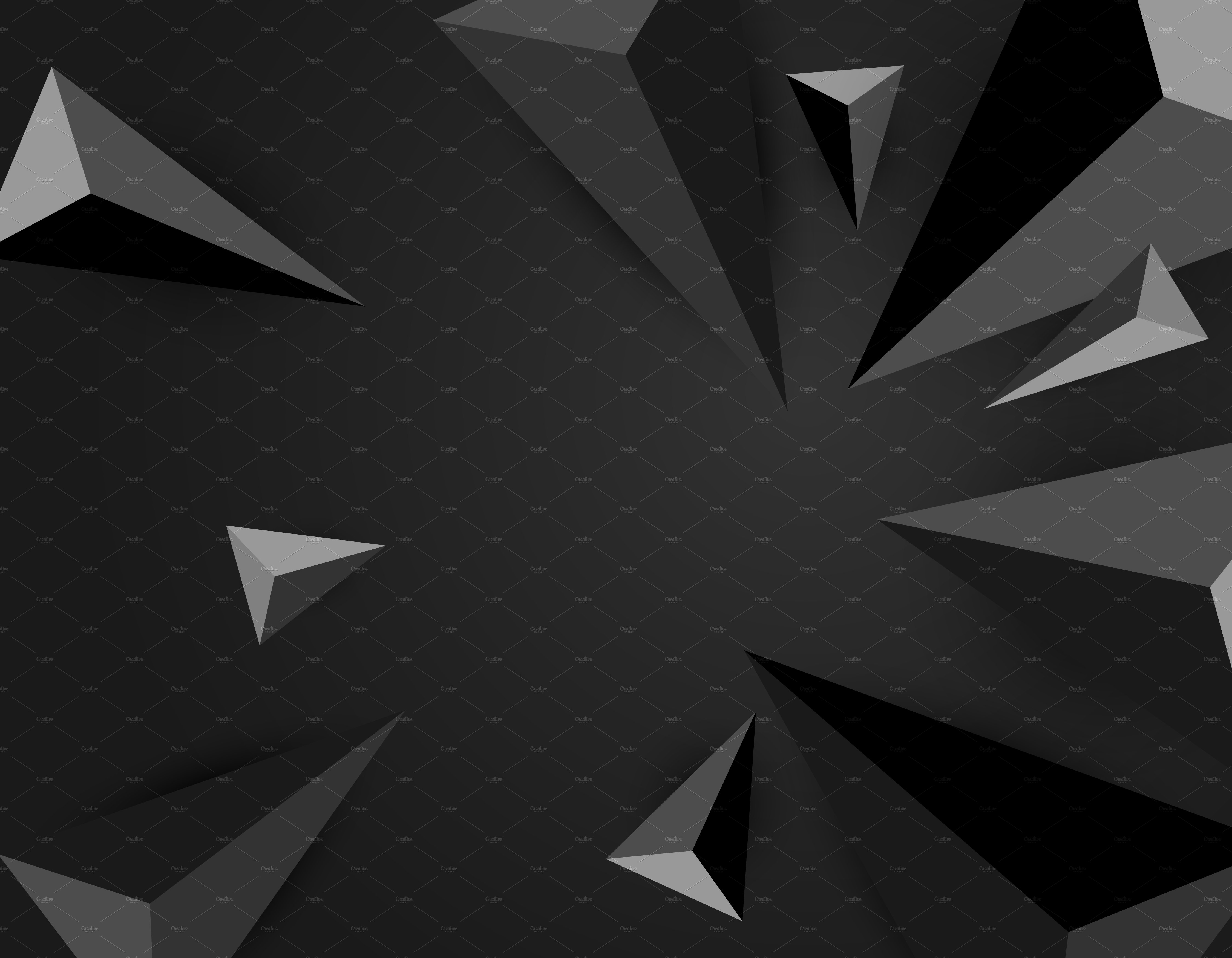 Vector of black triangles background ~ Graphic Patterns ...