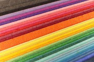 Colored Paper Sheets Pile