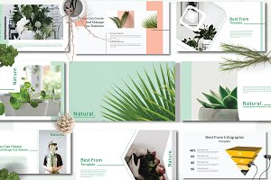 50% Off Natural Keynote Template