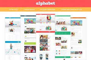 Alphabet - Education PSD Templates