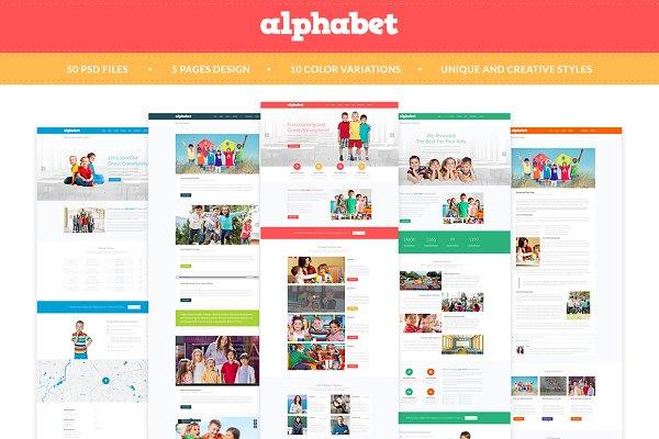 Alphabet - Education PSD Templates