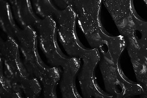 Dark Dirty Bicycle Gears Texture