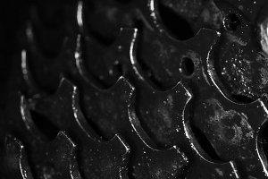 Dirty Bicycle Gears Texture. Macro.