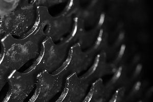 Dirty Bicycle Gears Texture.