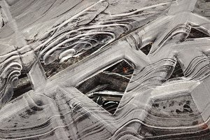 Ice Lines on a Frozen Lake