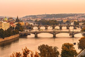 Old bridges of Prague