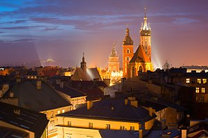 Krakow at twilight, Poland