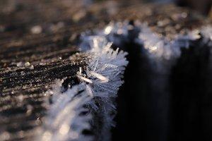 Frosty Crystals Macro Closeup Backgr
