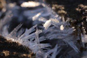 Frosty Crystals Macro Closeup Backg
