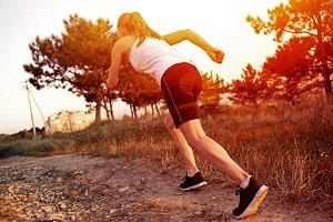 Female runner outdoor
