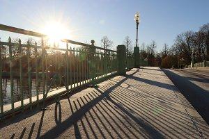 Park Bridge Road with Lantern