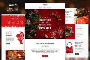 Santa Email Template + Builder