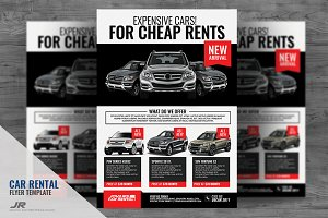 Car Rental and Dealership Flyer