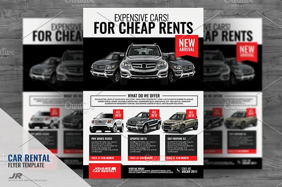 car rental and dealership flyer flyer templates creative market