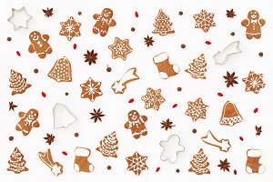 Christmas pattern. Gingerbread.