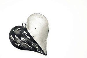 Big metal Christmas heart