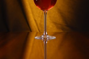 Glass of rose wine