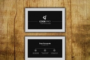 Black Creative Business Card