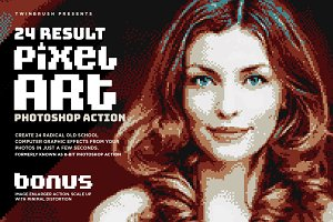 Pixel Art Photoshop Action