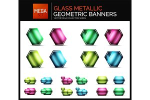 Mega collection of glossy geometric shiny glass geometric sale buttons