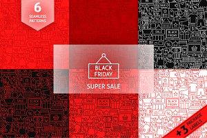 Black Friday Line Tile Patterns