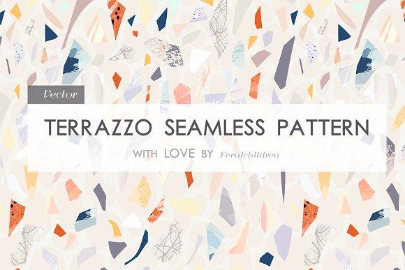 Terrazzo Seamless Pattern Graphic Patterns Creative Market
