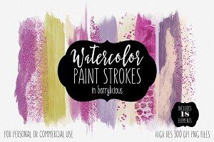 Berrylicious Watercolor Strokes