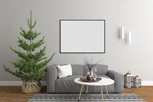 Christmas interior - living room