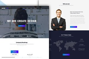 Bootstrap style grid home page PSD