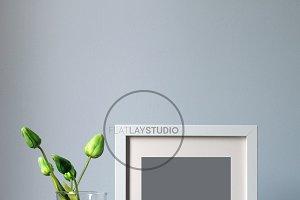 FLAT LAY - WHITE FRAME MOCKUP #57
