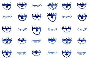 Winking eyes pattern