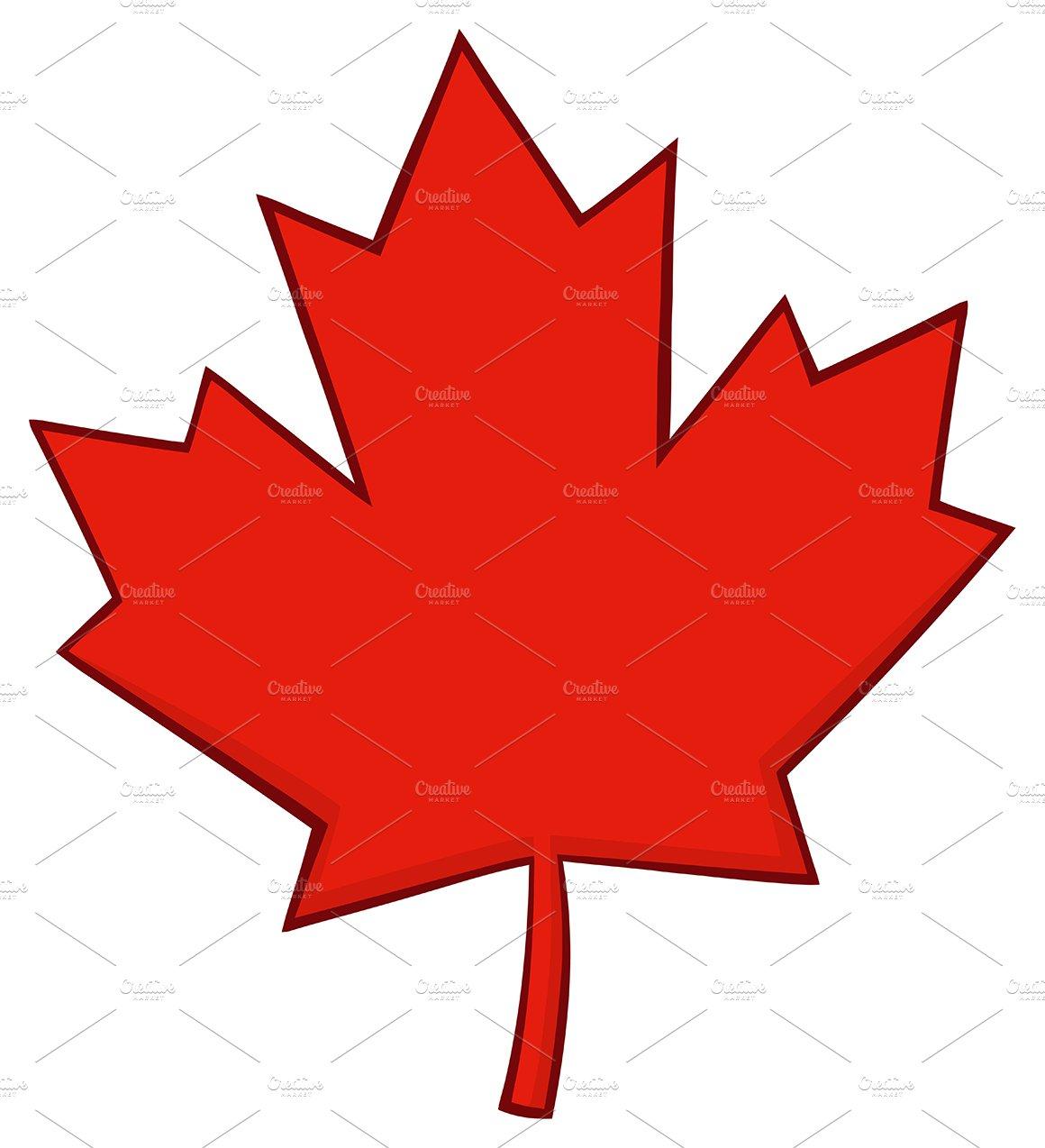 Canadian Red Maple Leaf Line Illustrations Creative Market