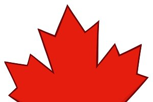 Canadian Red Maple Leaf Line