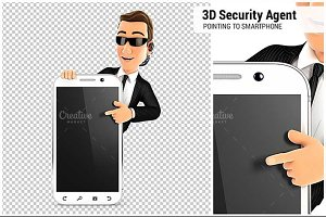 3D Security Agent Smartphone