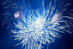 Fireworks in heart shape