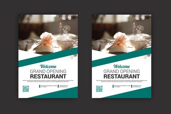 restaurant flyer flyer templates creative market